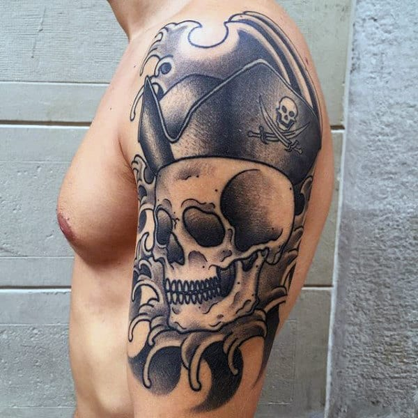 50 Pirate Tattoos For Men - Arrr, Ships And Eye Patches