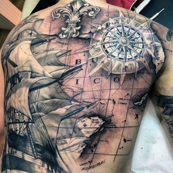 50 World Map Tattoo Designs For Men