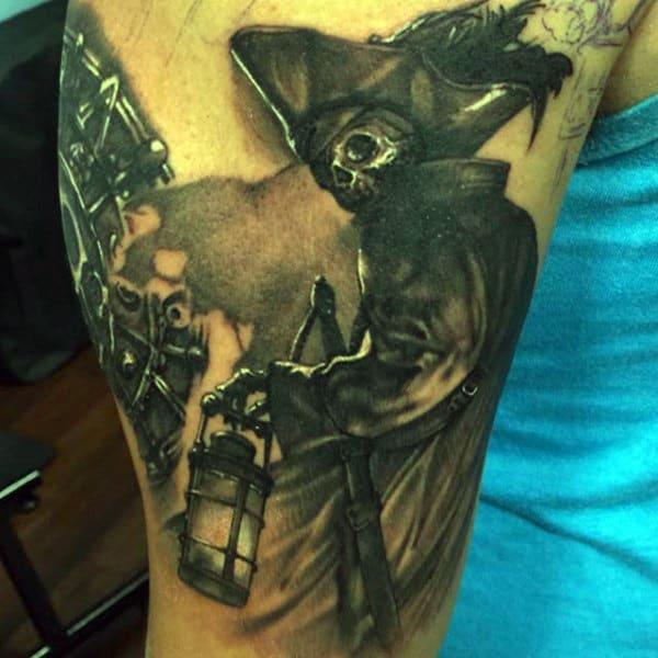 Pirate Ships Tattoos On Men