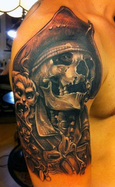 Pirate Style Men's Tattoo