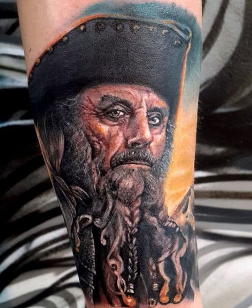 Pirate Sword Tattoo On Gentleman