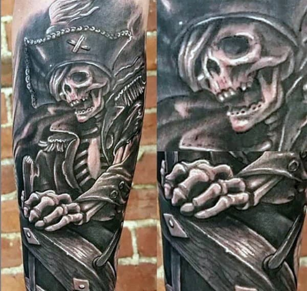 Pirate Themed Tattoos For Men