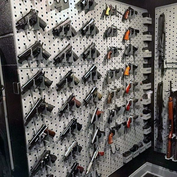 Pistol Wall Rack Gun Room Ideas