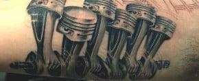 60 Piston Tattoo Designs For Men – High Horsepower Design Ideas