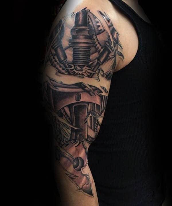 70 spark plug tattoo designs for men cool combustion ink. Black Bedroom Furniture Sets. Home Design Ideas