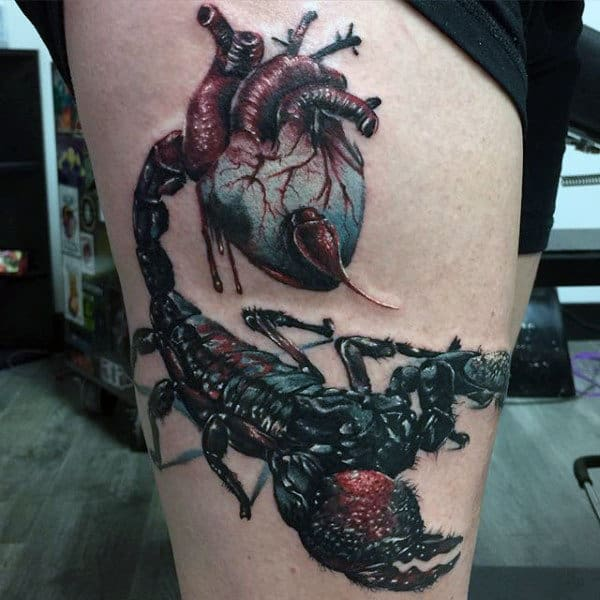 60 scorpion tattoo designs for men ideas that sting. Black Bedroom Furniture Sets. Home Design Ideas