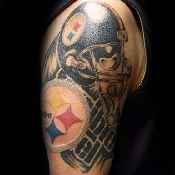 Pittsburgh Steelers Mens Themed Arm Tattoo Ideas