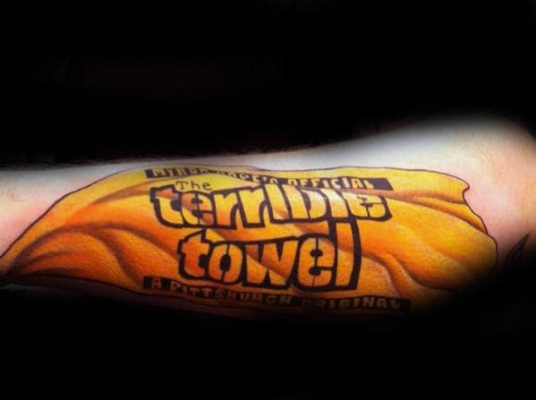 Pittsburgh Steelers The Terrible Towel Guys Outer Forearm Tattoo Ideas