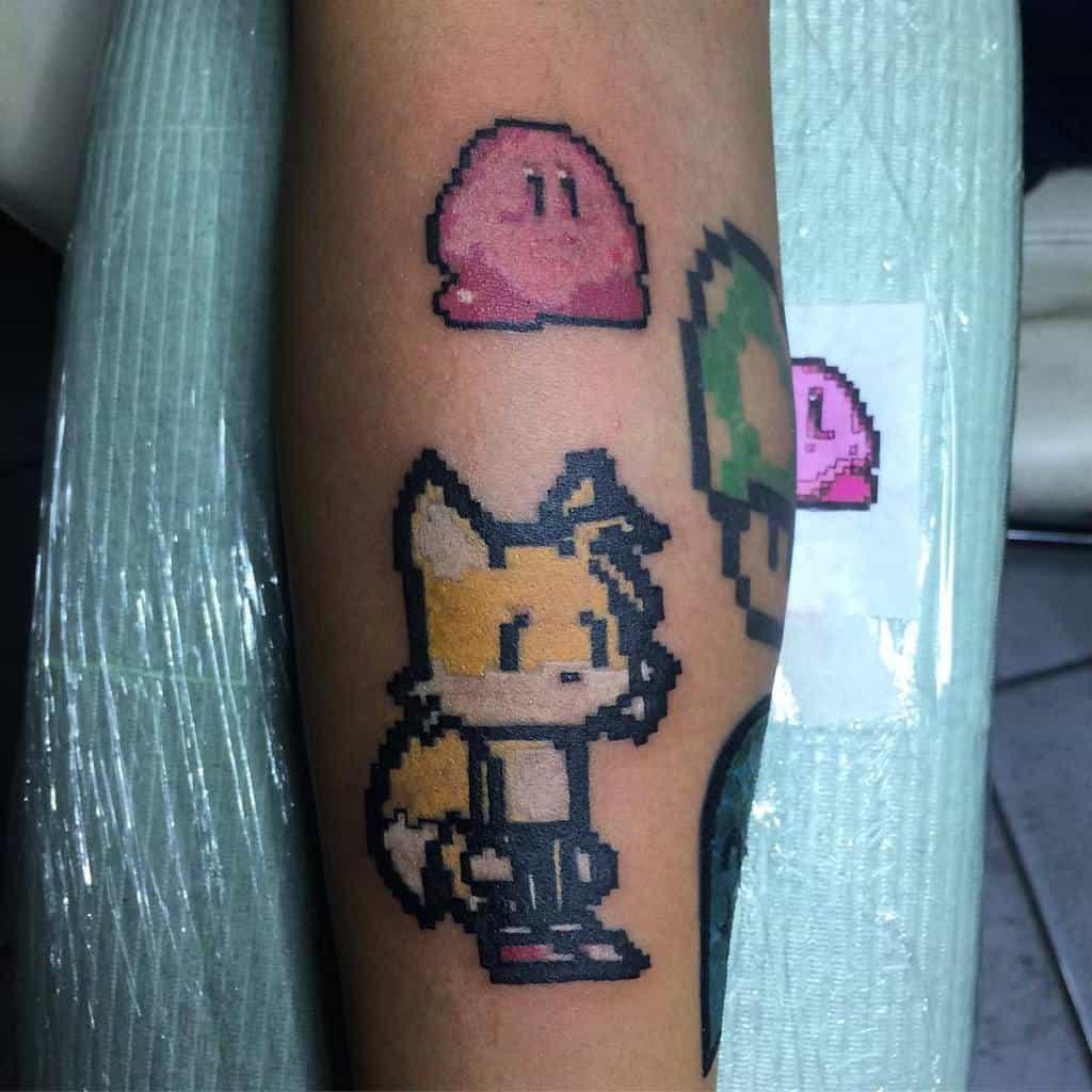 Pixel Kirby Tattoos Jeffagao
