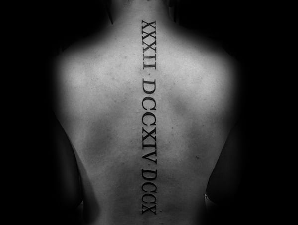 Places To Get Tattoos That Can Be Hidden Spine