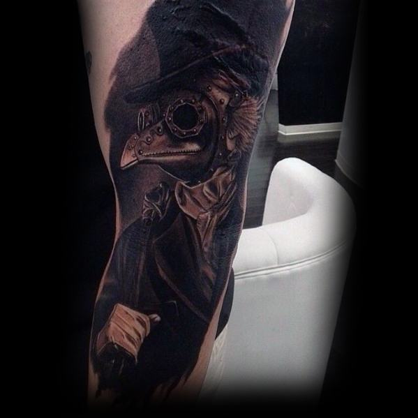 Plague Doctor Tattoo Ideas For Gentlemen Outer Arm