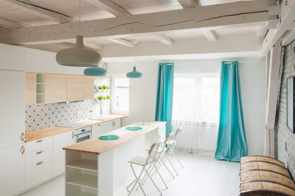 plain kitchen curtain ideas 1