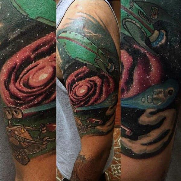 Planet Express Space Ship Mens Futurama Half Sleeve Tattoo