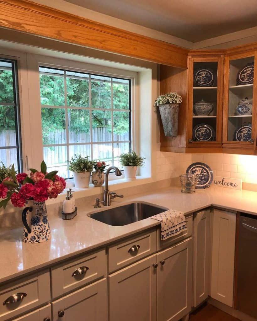 plants kitchen window ideas mygeraniumcottage