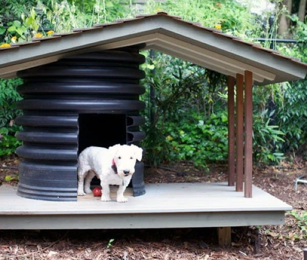 Plastic Barrel All Weather Dog House Designs