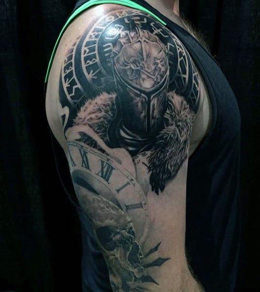 Plate Armour Knight Mens Tattoos