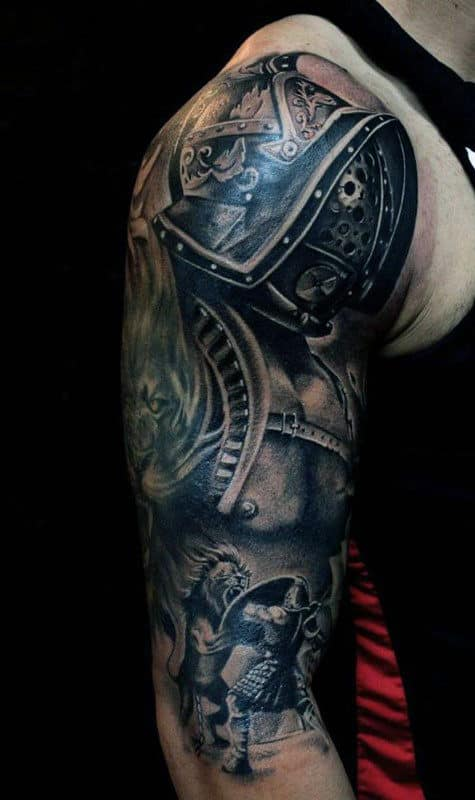 Plated Armor Mens Tattoos