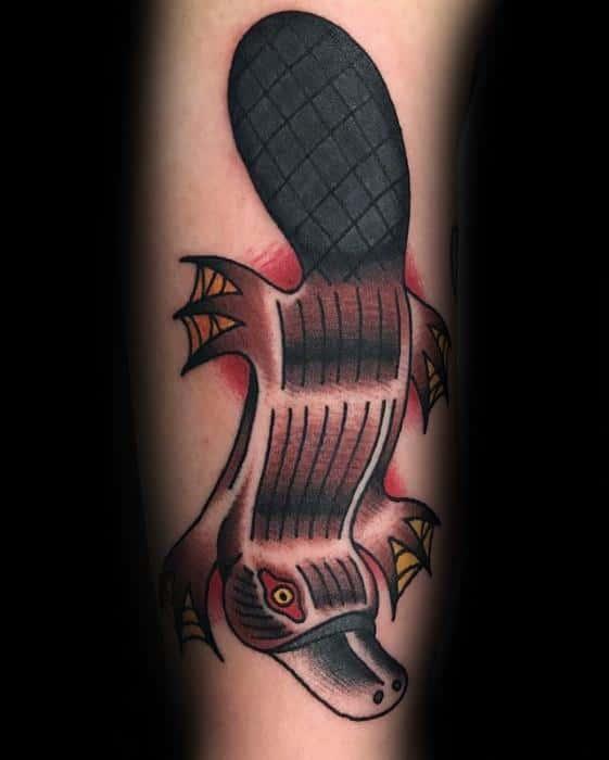 Platypus Mens Tattoo Ideas On Forearm