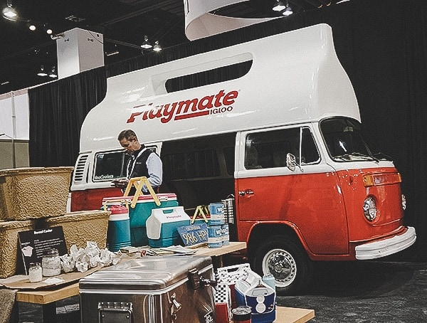 Playmate Igloo Coolers Van Display At Outdoor Retailer Snow Show 2019