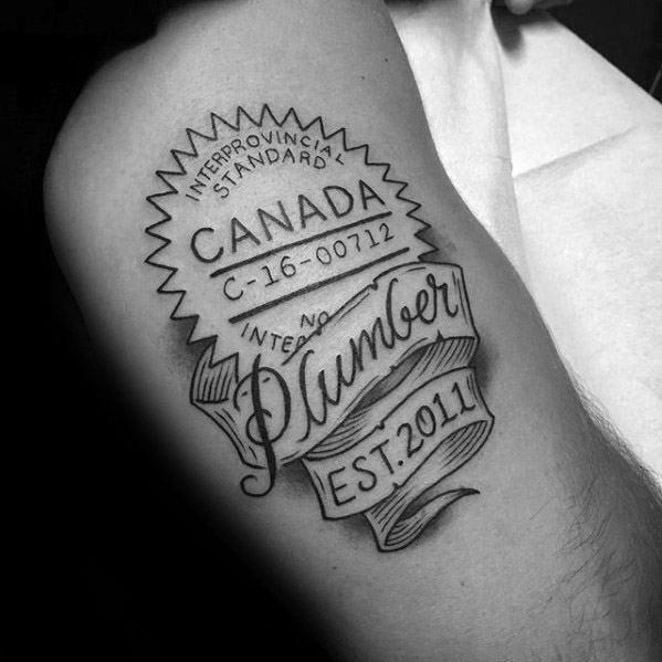Plumbing Tattoos For Gentlemen