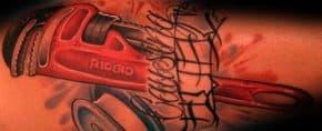 30 Plumbing Tattoos For Men – Plumber Design Ideas