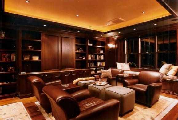Plush Leather Chairs Cool Man Cave Ideas