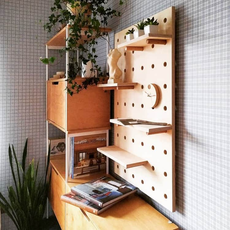 Plywood Entry Room Pegboard Ideas Solidhorse Factory