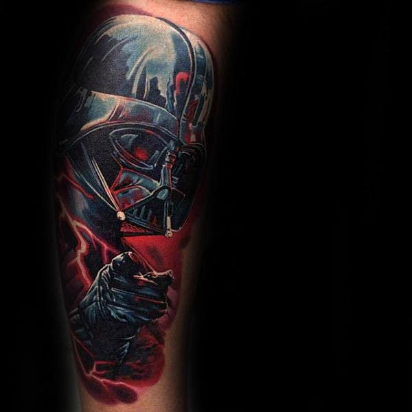 Pointing At You Star Wars Tattoo Male Forearms