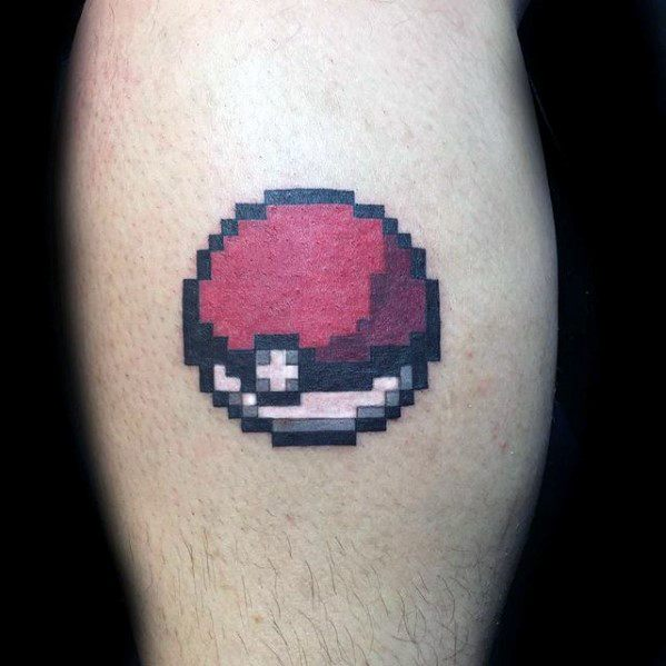 Pokeball 8 Bit Guys Arm Tattoo Ideas