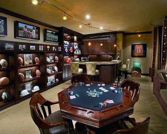 Poker Gaming Room Cool Man Cave Ideas