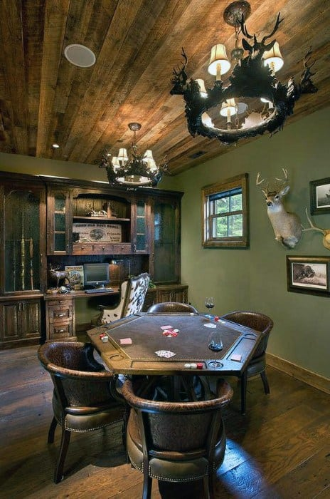 Poker Room Cool Man Cave Ideas
