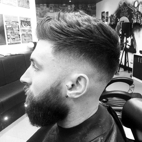 Polished Guys Haircut Skin Fade Faux Hawk
