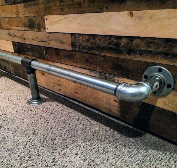 Polished Silver Mild Steel Pipe Design Ideas Bar Foot Rail