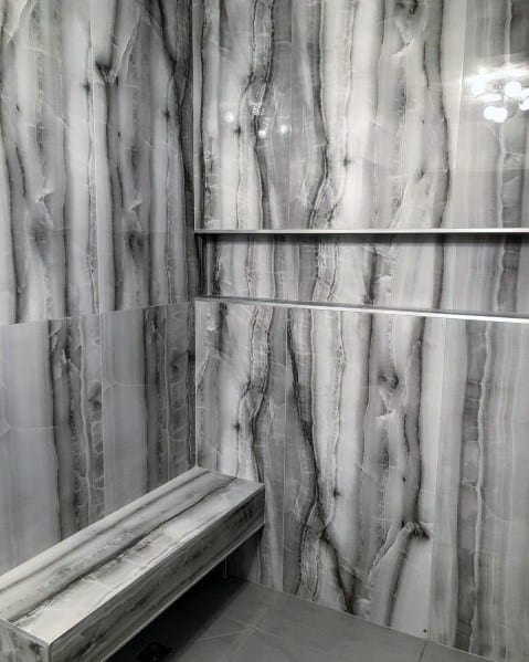 Polished Stone Shower Niche Ideas