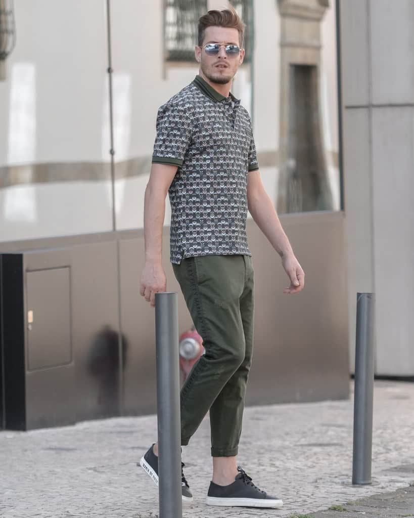 Polo Green Pants Outfit