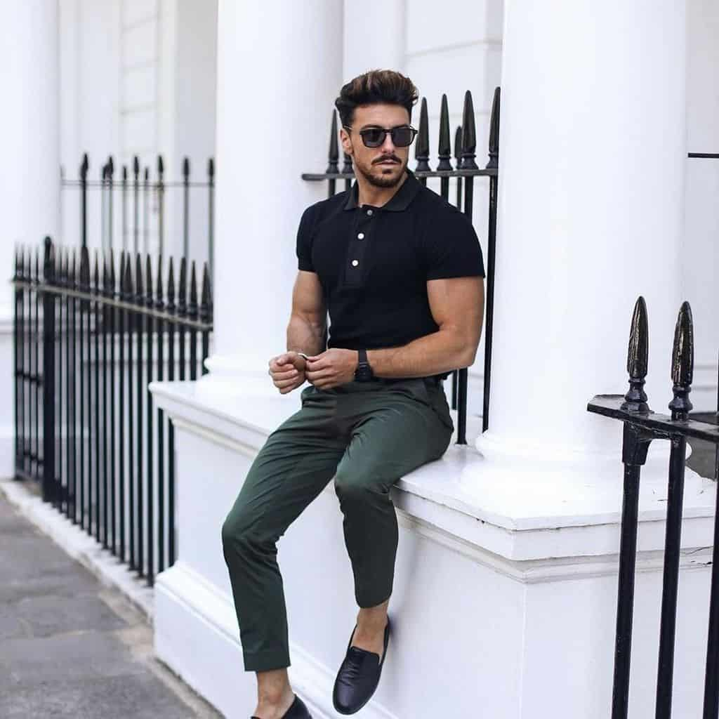 Polo Shirt Green Pants Outfit