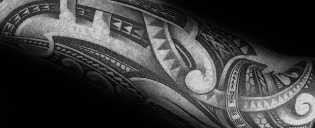 Polynesian Forearm Tattoo Designs For Men