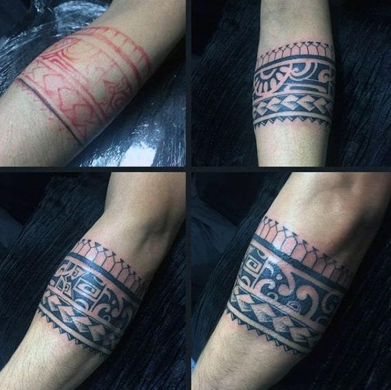 Männer tattoo armring