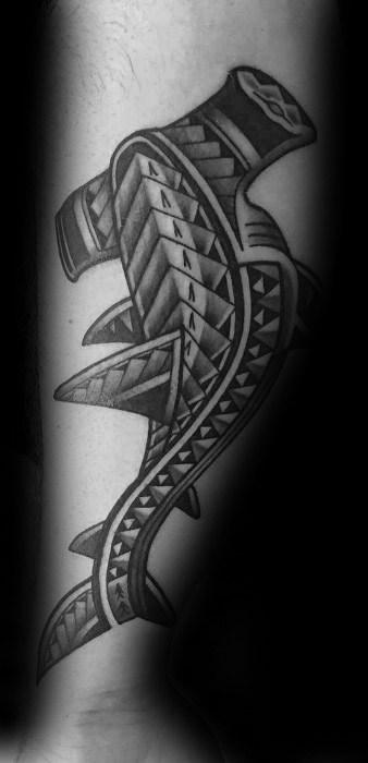 Polynesian Shark Guys Tattoo Ideas