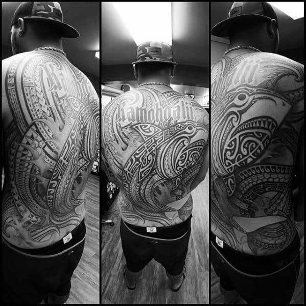 Polynesian Shark Male Tattoo Designs