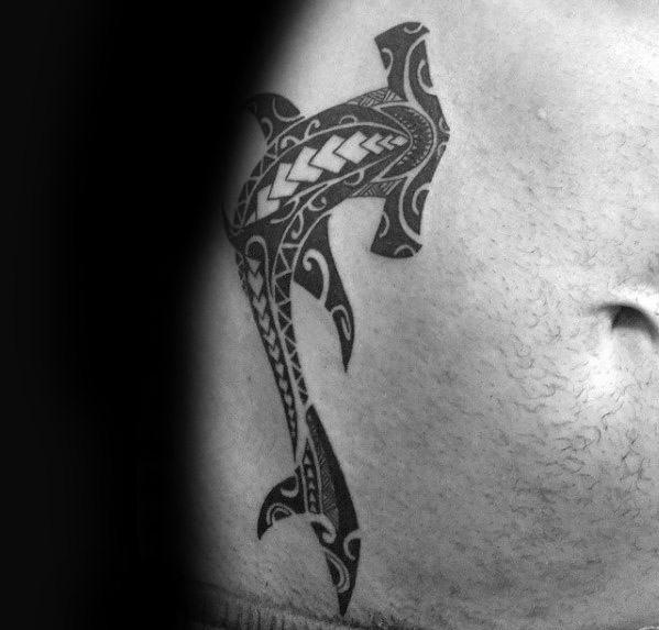 Polynesian Shark Mens Tattoo Ideas