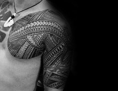 Polynesian Shark Tattoo Ideas For Males