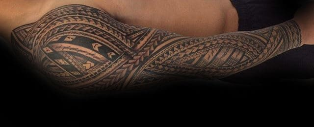 Polynesian Sleeve Tattoo Designs For Men