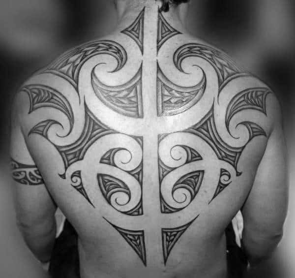 Polynesian Tribal Tattoo For Guys Back