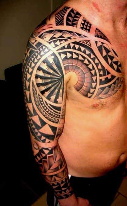 Polynesian Tribal Tattoos For Men