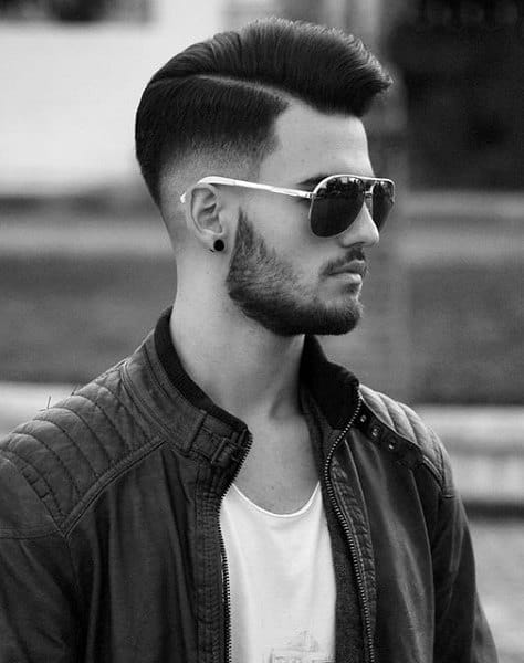 Pompadour Fade Haircut For Guys