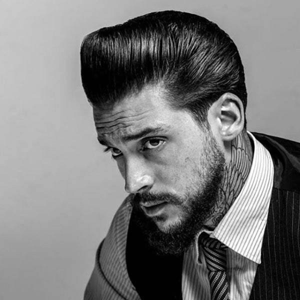 Greaser Hair For Men 40 Rebellious Rockabilly Hairstyles