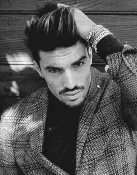 Pompadour Medium Mens Haircut Thick Hair