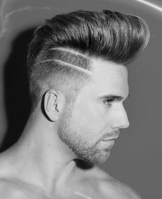 mens haircuts with lines top 75 best trendy hairstyles for modern manly cuts 1307
