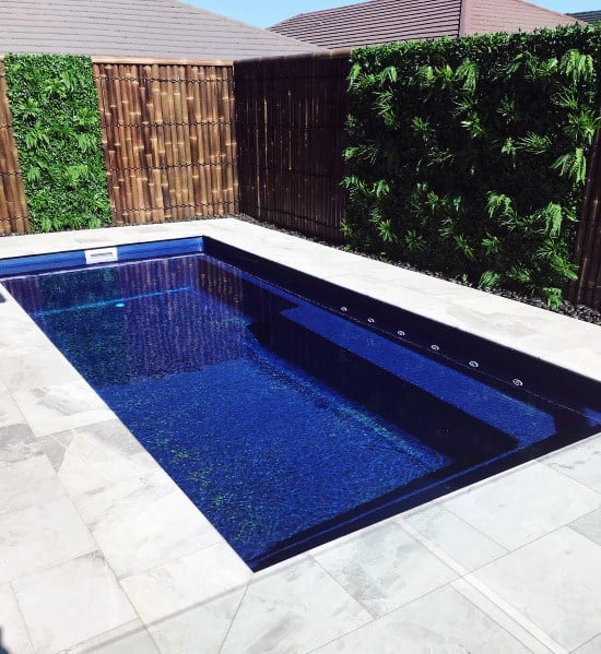 Pool Backyard Bamboo Fence Design